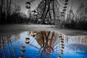 The iconic Ferris wheel in the ghost town of Pripyat